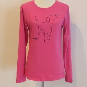 Life is Good Dog Amigo Cotton Long Sleeve Tshirt